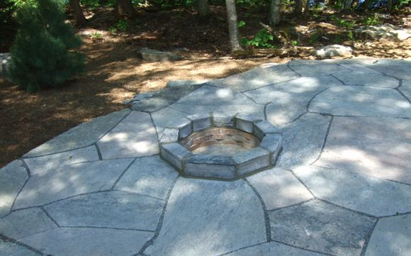 fire pit flagstone