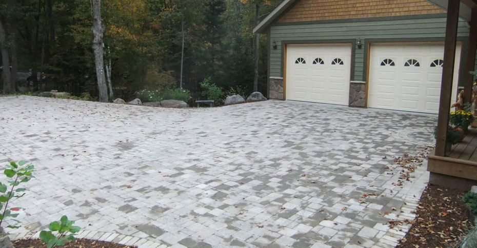 Before: an unpaved driveway