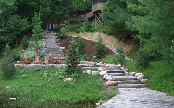 dock and steps