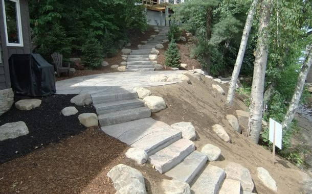connecting stone steps