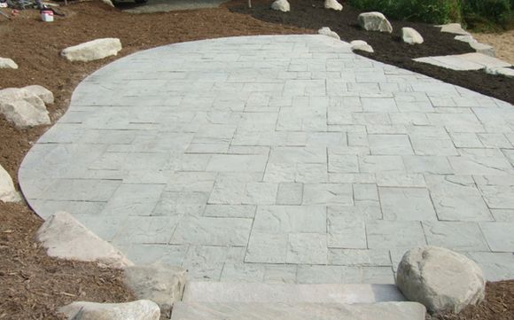 interlocking patio boulders
